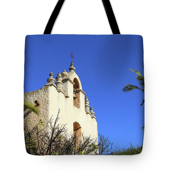 Tote Bag featuring the photograph Our Lady Of Mount Carmel - Montecito by Art Block Collections