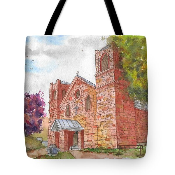 Our Lady Of Sorrow Catholic Church, Las Vegas, New Mexico Tote Bag