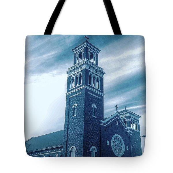 Our Lady Of Sorrows Under Wispy Skies Tote Bag