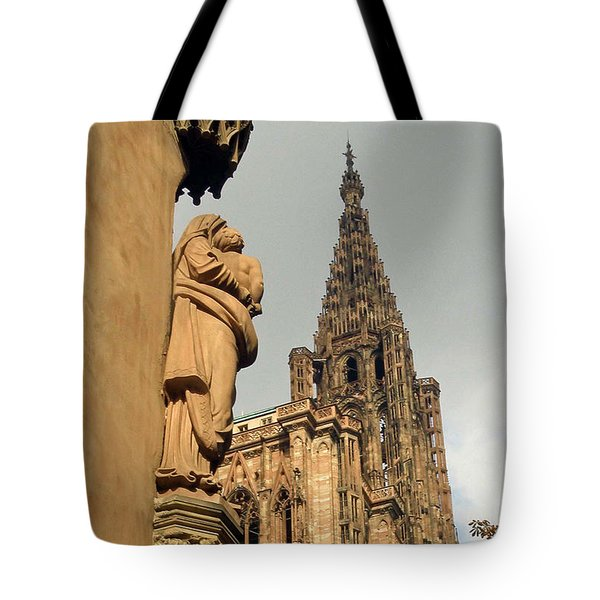 Our Lady Of Strasbourg Tote Bag
