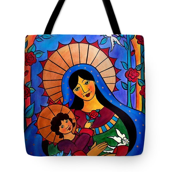 Our Lady Of The Garden Tote Bag