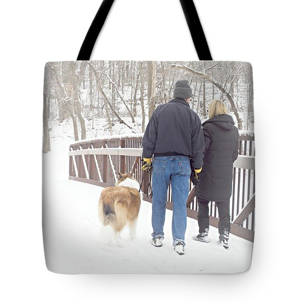 Our Love Will Keep Us Warm Tote Bag by Larry Ricker