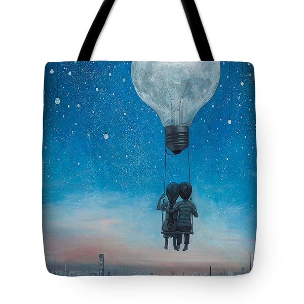 Our Love Will Light The Night Tote Bag