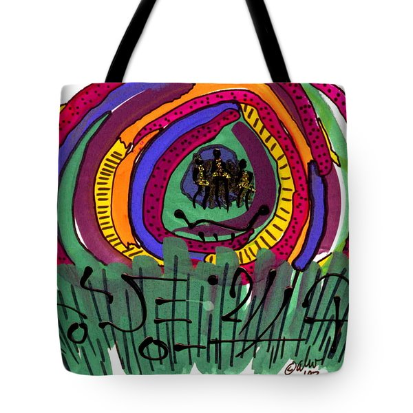 Tote Bag featuring the mixed media Our Own Colorful World II by Angela L Walker