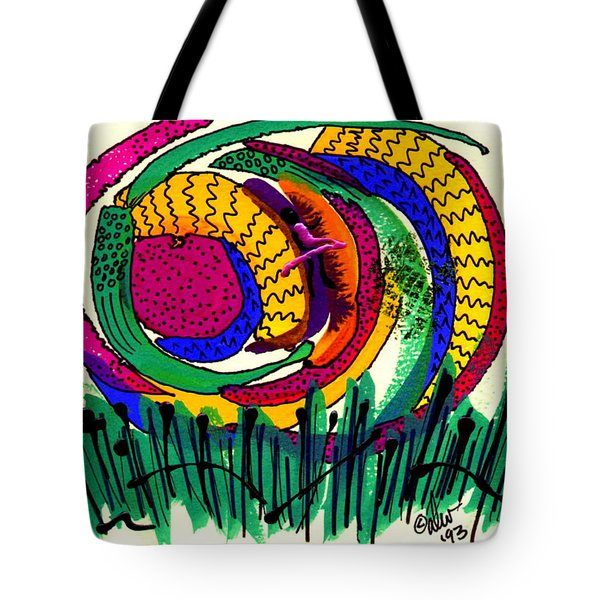 Tote Bag featuring the mixed media Our Own Colorful World IIi by Angela L Walker