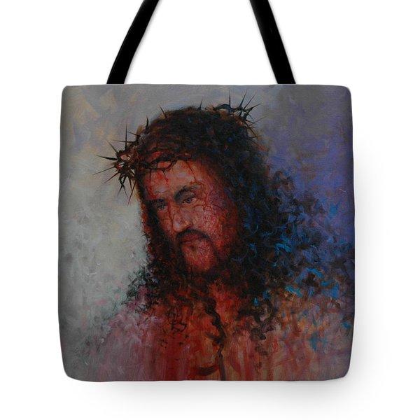 Our Precious Savior Tote Bag by Michael Nowak