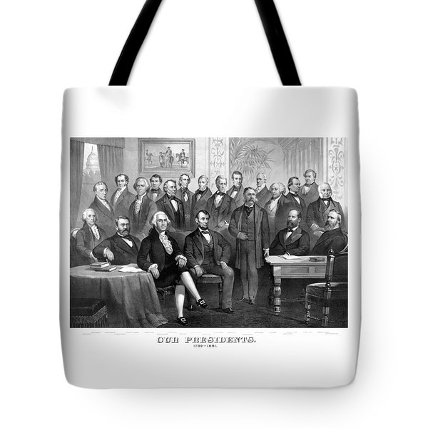 Our Presidents 1789-1881 Tote Bag by War Is Hell Store
