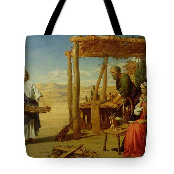 Our Saviour Subject To His Parents At Nazareth Tote Bag by John Rogers Herbert