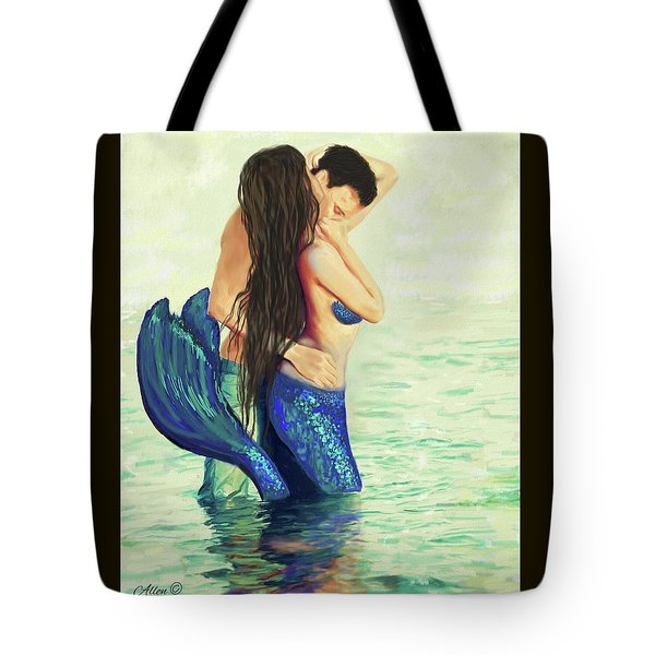 Tote Bag featuring the painting Our Treasured Love by Leslie Allen