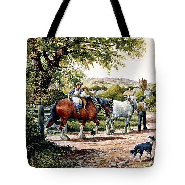 Our Village Home Tote Bag