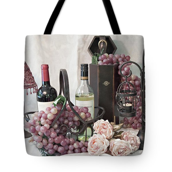 Tote Bag featuring the photograph Our Wine Cellar by Sherry Hallemeier
