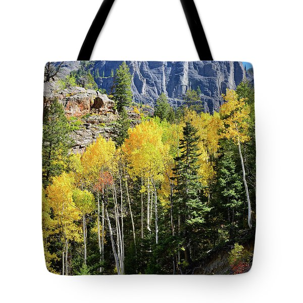 Tote Bag featuring the photograph Ouray Aspens by Ray Mathis