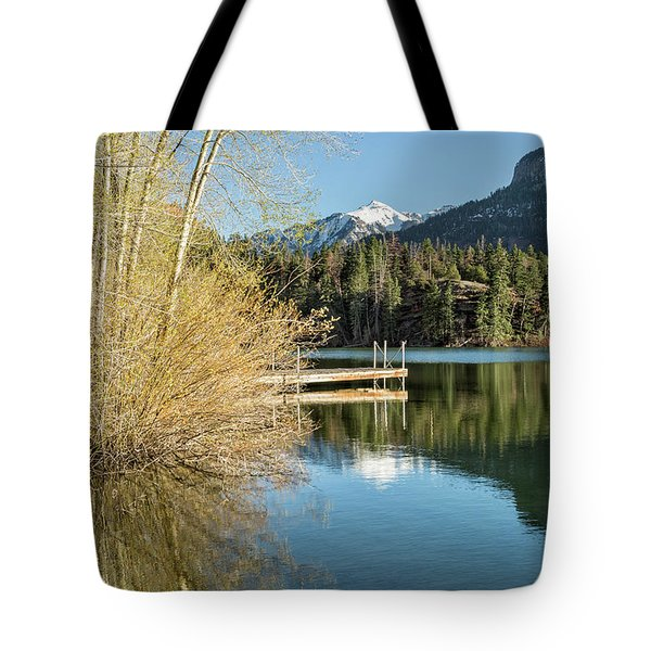 Ouray County Postcard Scene Tote Bag