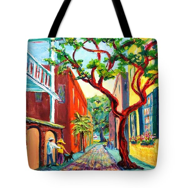 Tote Bag featuring the painting Out And About by Dorothy Allston Rogers