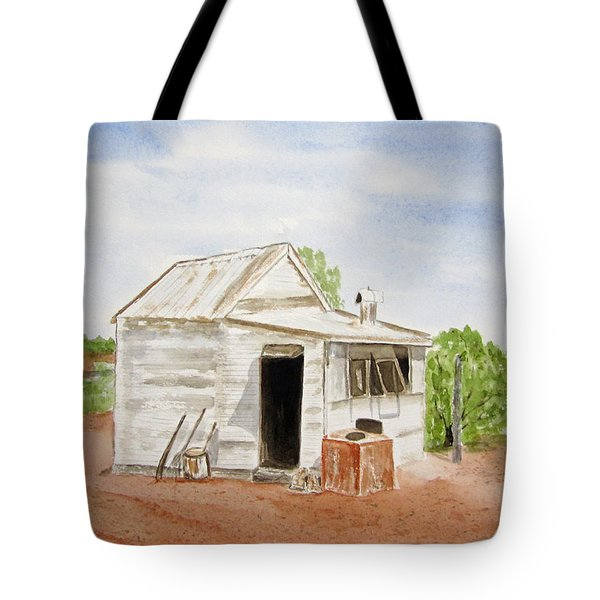 Old Miners Hut Tote Bag
