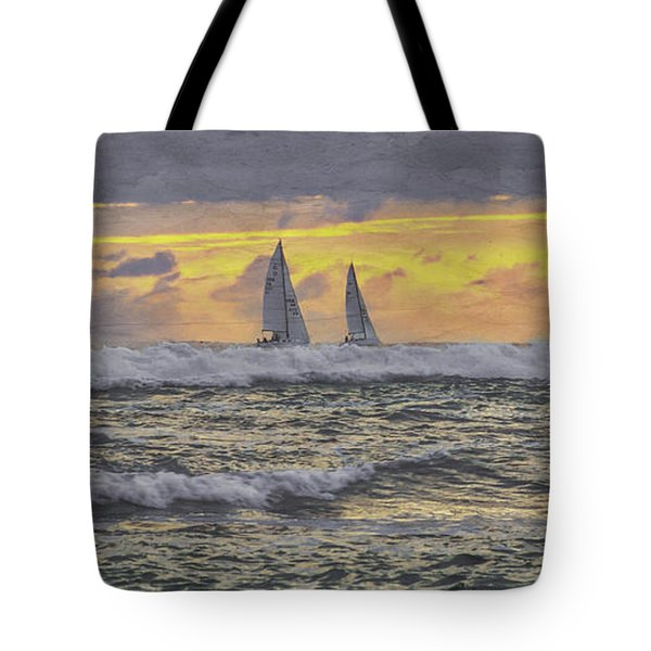 Out Beyond The Breakers Tote Bag