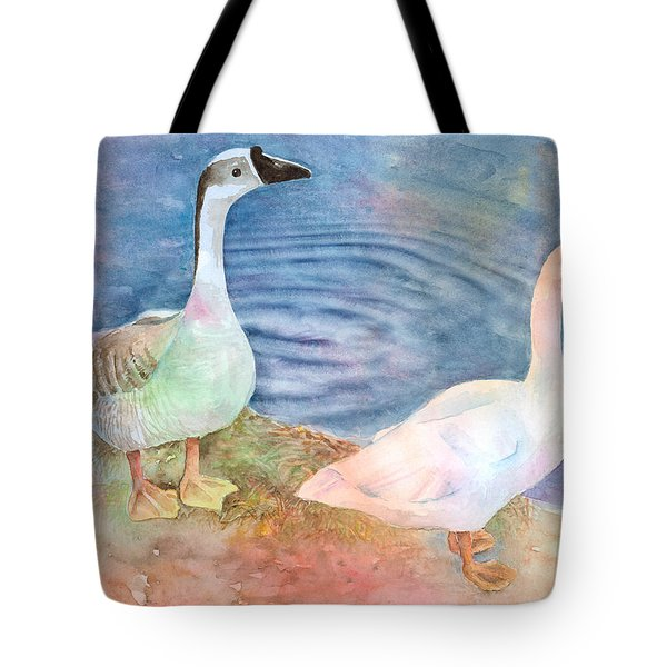 Out For A Stroll Tote Bag by Arline Wagner