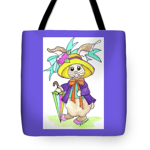 Tote Bag featuring the painting Out For A Stroll by Rosemary Aubut