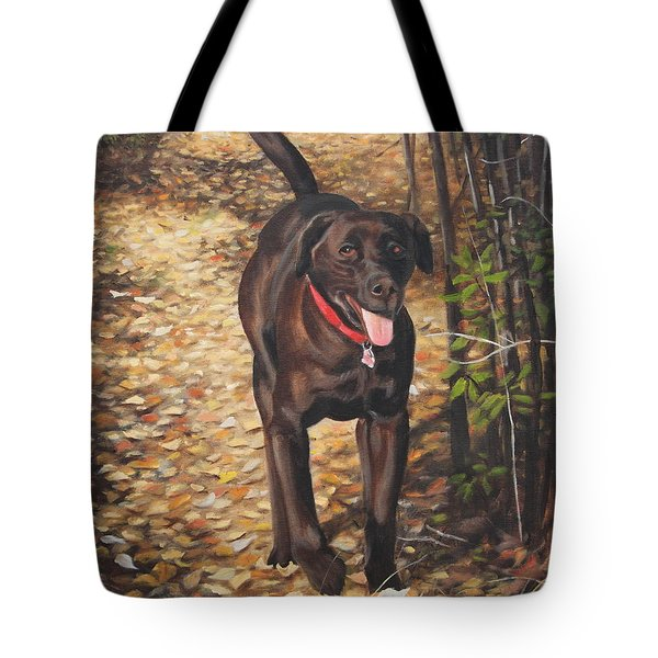 Tote Bag featuring the painting Out For A Walk #1 by Tammy Taylor