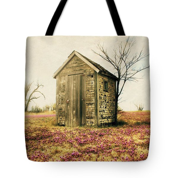 Tote Bag featuring the photograph Outhouse by Julie Hamilton