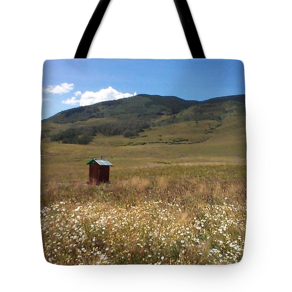 Tote Bag featuring the photograph Out House by Mary-Lee Sanders