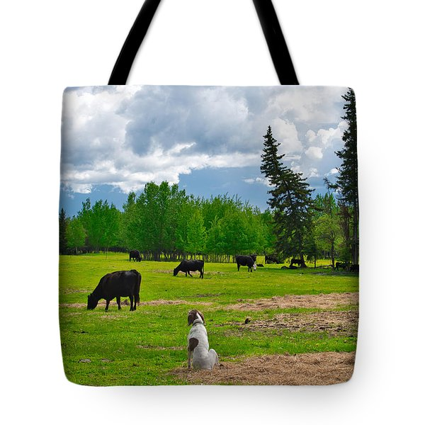 Out In The Pasture Tote Bag