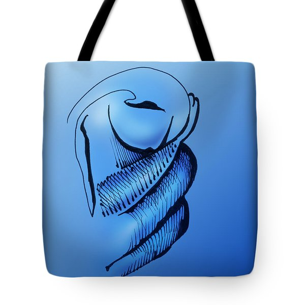 Tote Bag featuring the drawing Out Of The Blue Aventurine by Keith A Link