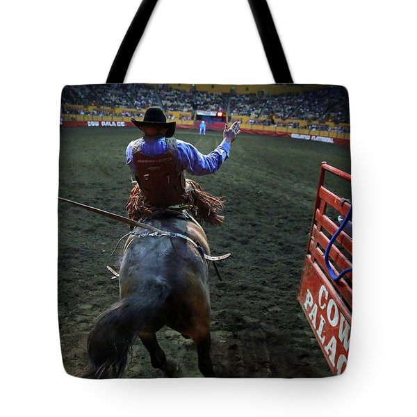 Tote Bag featuring the photograph Out Of The Chute by John King