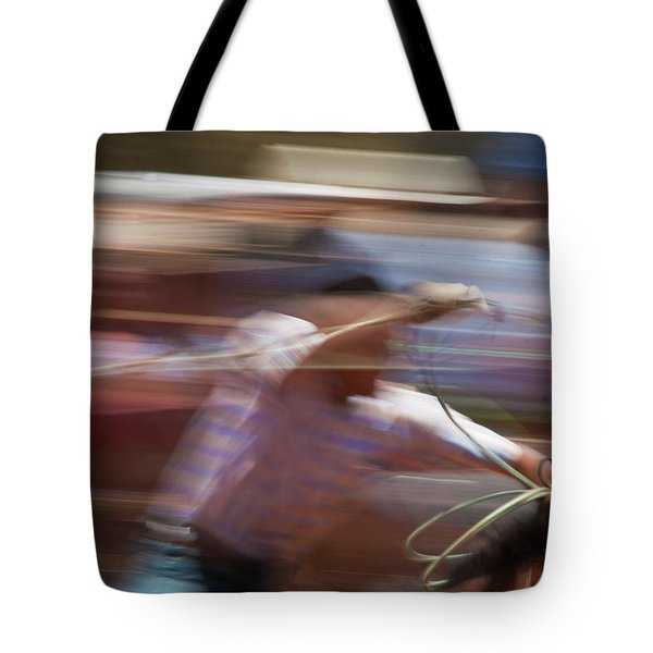 Tote Bag featuring the photograph Out Of The Gate by Roger Mullenhour