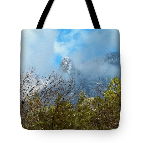 Tote Bag featuring the photograph Out Of The Mist by Glenn McCarthy Art and Photography