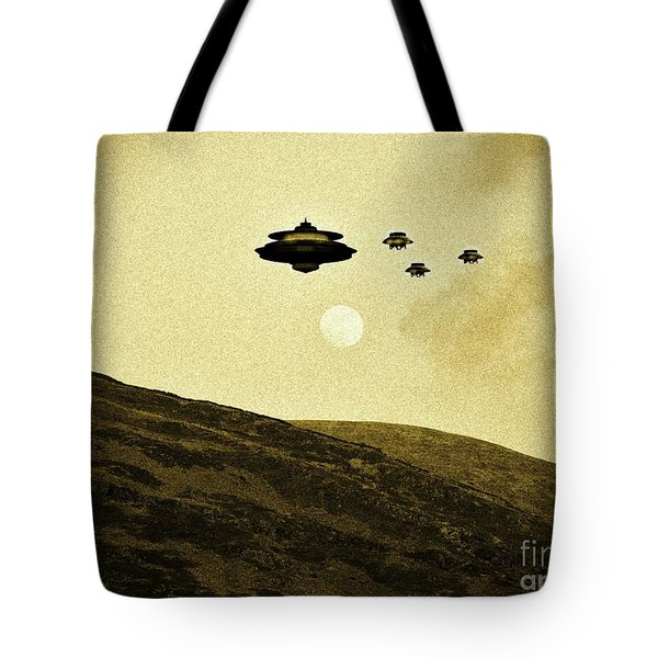 Out Of The Moon By Raphael Terra Tote Bag