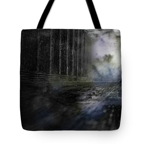Out Of The Storm Tote Bag by Gray  Artus