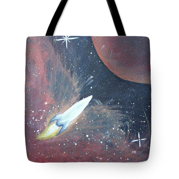 Out Of This World Tote Bag by Cyrionna The Cyerial Artist
