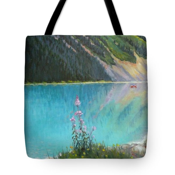 Out On Lake Louise Tote Bag