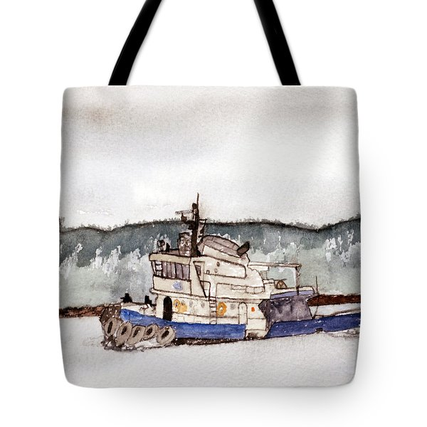 Out On The Bay Tote Bag by R Kyllo