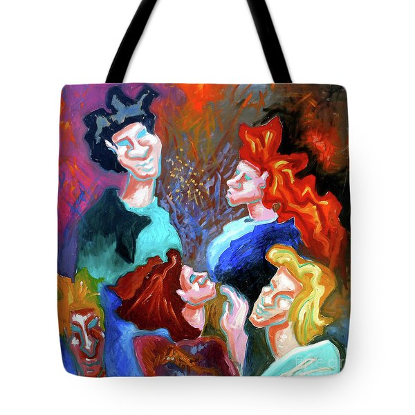 Tote Bag featuring the painting Out On The Town by Genevieve Esson