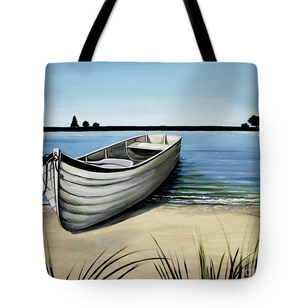 Out On The Water Tote Bag by Elizabeth Robinette Tyndall