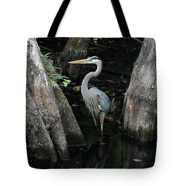 Out Standing In The Swamp Tote Bag by Lamarre Labadie