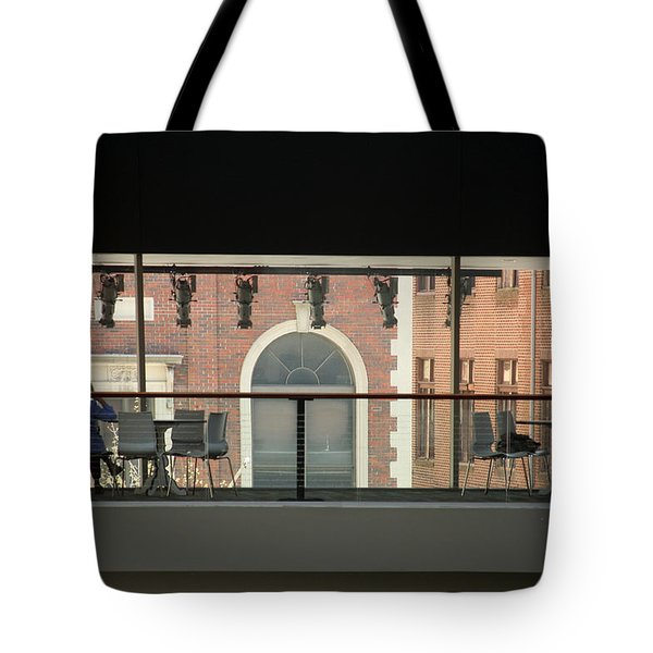 Tote Bag featuring the photograph Out The Windows by Emanuel Tanjala
