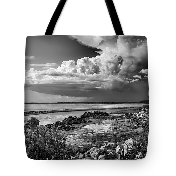 Tote Bag featuring the photograph Out To Sea by Howard Salmon