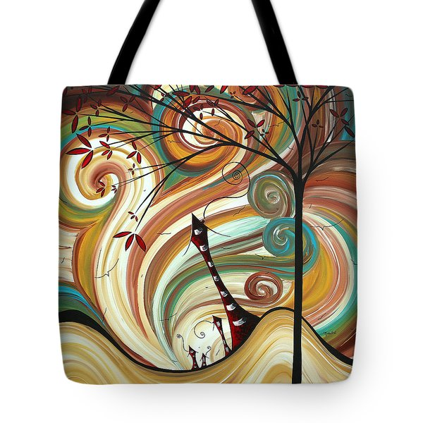 Out West II By Madart Tote Bag by Megan Duncanson