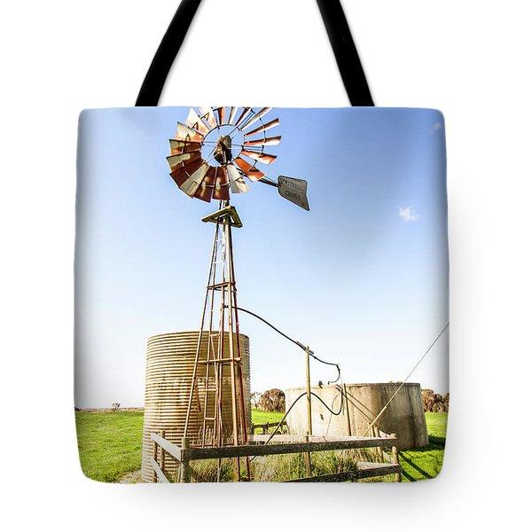 Outback Australian Farm Mill Tote Bag