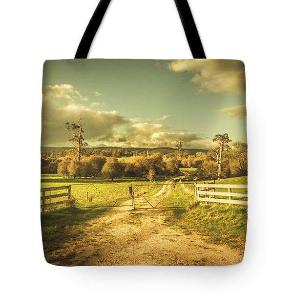 Outback Country Paddock Tote Bag