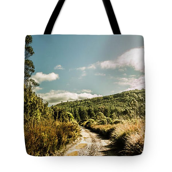 Outback Country Road Panorama Tote Bag