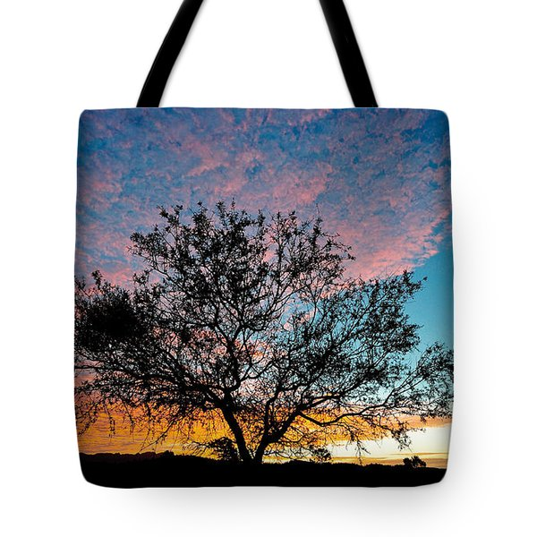 Outback Sunset Pano Tote Bag