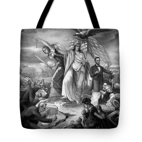 Outbreak Of Rebellion In The United States 1861 Tote Bag