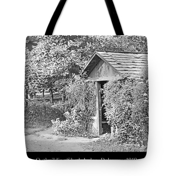 Tote Bag featuring the photograph Outbuilding, Shed Arden Delaware 1919 by A Gurmankin