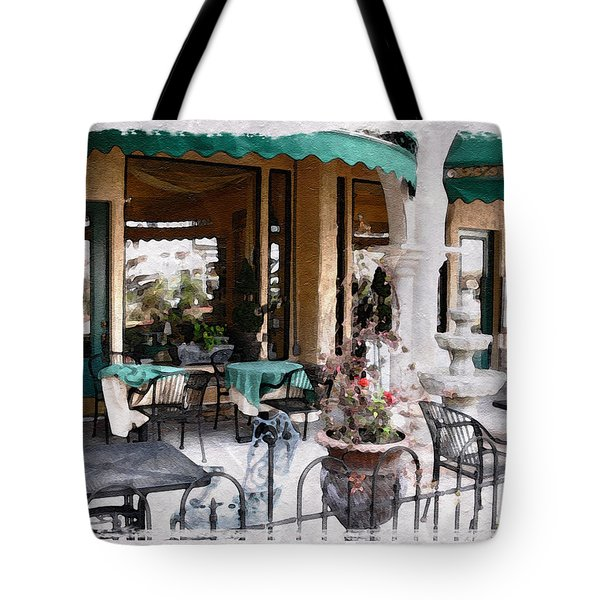 Tote Bag featuring the photograph Outdoor Cafe by Michele A Loftus