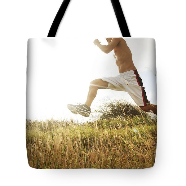 Outdoor Jogging IIi Tote Bag by Brandon Tabiolo - Printscapes