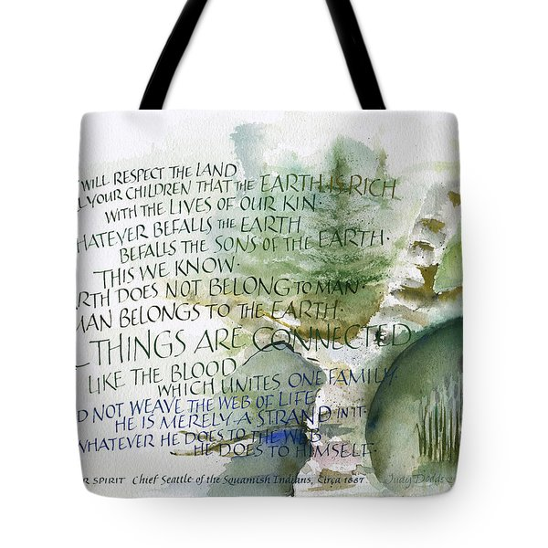 Outdoor Spirit Tote Bag by Judy Dodds